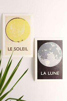 Double Merrick La Lune Art Print