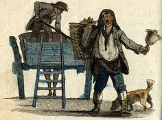 Cries of London, illustrated 1803 from Spitalsfield blog Dust Ho!