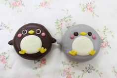 Cute animal doughnuts from japan, turned into manga and anime, and Cute Donuts, Mini Donuts, Cute Cookies, Doughnuts, Delicious Donuts, Delicious Desserts, Yummy Food, Churros, Kawaii Dessert