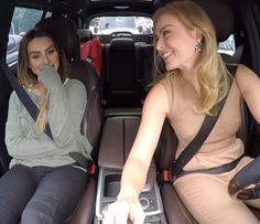 Cleo Pires e Angélica se divertem no carro (Foto: TV Globo)