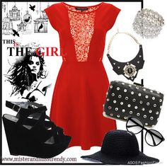 Black and Red lil' Devil | Women's Outfit | ASOS Fashion Finder