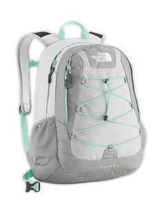 The North Face Women's Jester II 27L Backpack in High Rise Grey / Beach Glass Green