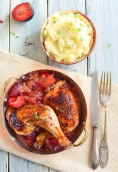 Kurczak jesienny ze śliwkami