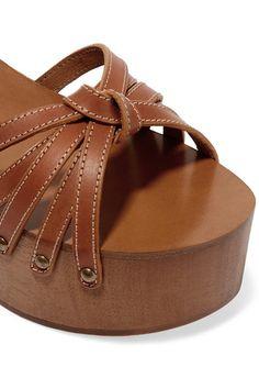 Isabel Marant   Zia leather platform sandals   NET-A-PORTER.COM