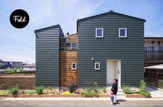扶桑市で設計しました、ノッチ House Wall, My House, Modern Exterior, Residential Architecture, Townhouse, Shed, Outdoor Structures, House Design, Villa
