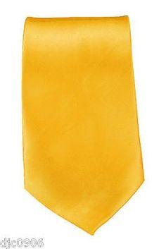 "Unisex Neon Bright Peach Orange Silk Feel Polyester Neck tie 56"" L x 3"" W-New"
