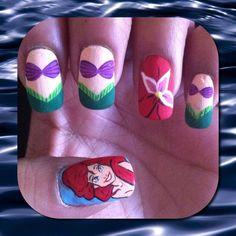Ariel nails for @Lauren Davison Davison Kerbs