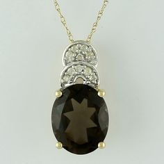 Citrine 2.75 Ct Awesome Pendant 10K Yellow Gold Whit Diamond Designer Jewelry  #SGL #Pendant