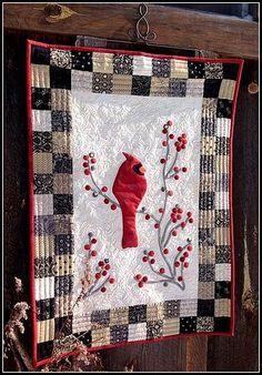 Welcome! Redbird and Berries - Grow Your Blog - and a Giveaw... | Karen's Quilts, Crows and Cardinals | Bloglovin