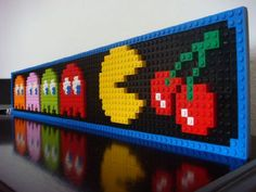 PacMan :: My LEGO creations. PacMan built just for fun. Lego Pacman, Lego Duplo, Lego Design, Pac Man, Mosaico Lego, Legos, Lego Sculptures, Lego Videos, Lego Bedroom