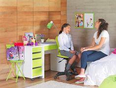 El escritorio ideal   #escritorio #repisas #armario #dormitorio #muebles