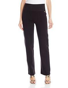 Women's Wear To Work Pants - Calvin Klein Women's Power Stretch Wide-Waist Pant at Women's Clothing store: Pull On Pants, Work Pants, Women's Pants, Jogger Pants, Chic And Curvy, Stretch Pants, Calvin Klein Women, Straight Leg Pants, Classy Dress