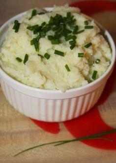 Parmesan Chive Creamed Cauliflower