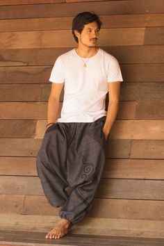 Charcoal Black Tribal Pants