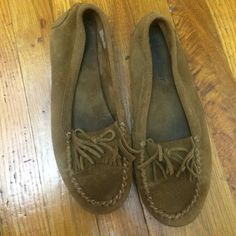 Mocassins Used in good condition brown suede Minnetonka Shoes