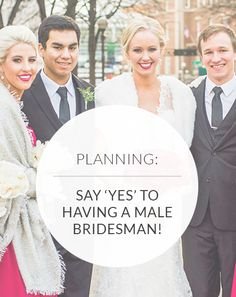 From what he should wear to how you can include him in your pre-wedding events, this is what you need to know if you're having a male bridesmaid! Male Bridesmaid, Asking Bridesmaids, Fox Wedding, Wedding Day, Wedding Decor, Man Of Honour, Bridesman, Guy Best Friend, Is It Okay