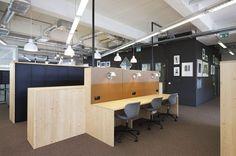 Brainstorm Area Office PON Tilburg, Netherlands by WIES | bureau voor ruimtelijk ontwerp #office #interiordesign #color #febrikfabrics #flexworking #coworking #desk