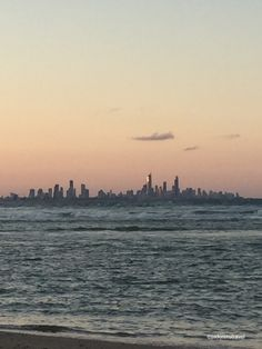 Looking from quiet and calm Palm Beach QLD towards busy and glitzy Surfers Paradise QLD