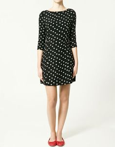 My grandpa loved polka dots! This is cute with the pop of red in the shoes.