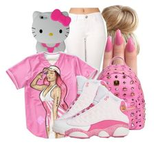 """""""."""" by honey-cocaine1972 ❤ liked on Polyvore featuring Hello Kitty, Nicki Minaj and MCM"""