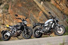 Ducati Scrambler Full Throttle 2016 and Yamaha XSR 700