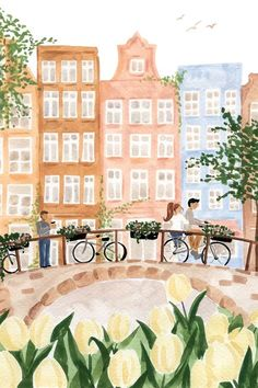 Amsterdam In The Spring Canvas Art by Sabina Fenn | iCanvas