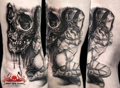 Bondage skull Tattoo by Mehdi Rasouli broken tooth tattoos Knee Tattoo, Ankle Tattoo Small, Ankle Tattoos, Small Tattoos, Tiny Tattoo, Arrow Tattoo Design, Skull Tattoo Design, Tattoo Designs, Misfits Tattoo