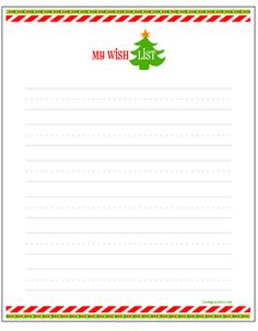 Holiday Wish List for Kids - Letter to Santa {Free Printable}