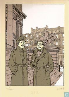 Ex-Libris BD et tirages - Ex-libris BD - Dans les coulisses de Blake et Mortimer