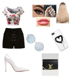 """""""Untitled #97"""" by srtahoran1 ❤ liked on Polyvore featuring River Island, Gianvito Rossi, Extension Professional, LASplash, Louis Vuitton, Zero Gravity, women's clothing, women's fashion, women and female"""