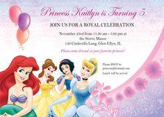 Printable Princess Birthday Party Invite
