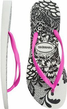 Havianas Slim Lace Flip Flop. http://www.swell.com/New-Arrivals-Womens/HAVAIANAS-SLIM-LACE-FLIP-FLOP?cs=WH