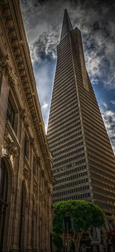 Transamerica Pyramid, San Francisco, USA.  One of the most amazing entrances if you go thru the east entrance and immediately look up ... whoa.
