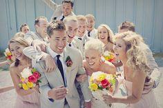 Bridal party fun.