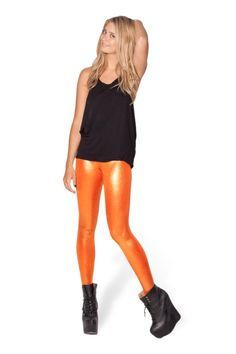 Juicy Fruit Carrot Leggings - LIMITED › Black Milk Clothing. I may need to purchase these for the upcoming AFL season...! An oversized grey sweater, GWS Giants scarf & Beanie/baseball cap... heck yes!