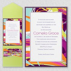 Contemporary Art - Layered Pocket Invitation    | 40% OFF  |    http://mediaplus.carlsoncraft.com/Parties--Celebrations/Bar--Bat-Mitzvah-Invitations/3125-BAN14558PBI-Contemporary-Art--Layered-Pocket-Invitation.pro