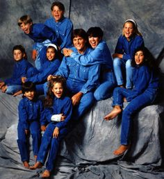 The Kardashian-Jenner family poses for a 1991 family portrait:  (Middle row, L-R) Brody Jenner, Kourtney Kardashian, Bruce Jenner, Kris Jenner, Cassandra Jenner, Kim Kardashian, (top row, L-R) Brandon Jenner, Burton Jenner, (bottom row, L-R) Robert Kardashian Jr., Khloe Kardashian