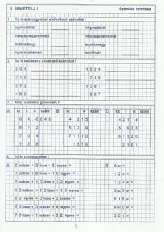 Kiszámoló 4. osztály Teacher Sites, Math Class, Periodic Table, Bullet Journal, Teaching, Education, Fa, Advent, Spider