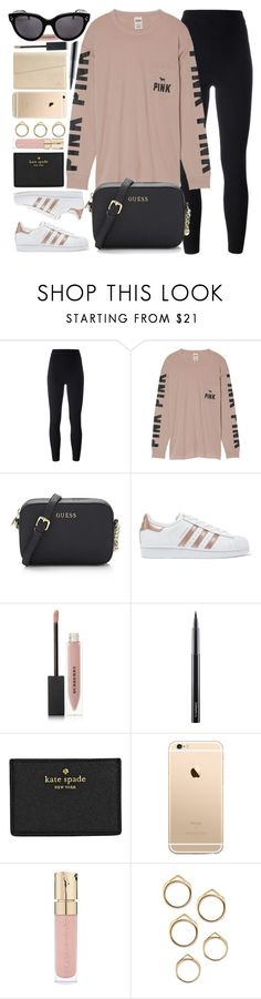 """""""Mornings Like This"""" by monmondefou ❤ liked on Polyvore featuring adidas Originals, Victoria's Secret, Burberry, MAC Cosmetics, Kate Spade, Smith & Cult, Pink and black"""