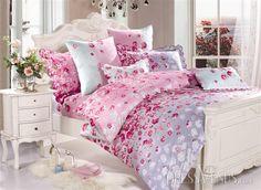 US$76.99 4 Piece Pink Petty Flowers Print Duvet Cover Cotton Bedding Sets. #Modern #Print #Duvet #Pink Cotton Bedding Sets, Shabby Chic Decor, Flower Prints, Pretty In Pink, Duvet Covers, Comforters, Blanket, Modern, Shopping