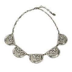 Crystal Deco Five Station Necklace