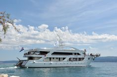 The beautiful M/Y President that will be our floating home for seven nights as we cruise the Dalmatian Coast. For more information check out: http://out-adventures.com/trip/lesbian-and-gay-croatia-978/