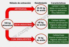 Rendimiento y características del aceite de argán en función del método de extracción