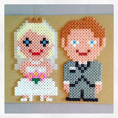 Couple - Wedding hama beads by hjemmehosanette