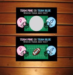 Gender Reveal Scratch Off Cards  Football Baby by AnnounceItFavors