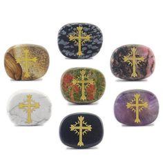 Greece Jesus Cross  7 Chakra Healing Stone Set #everythingelse #religious @EtsyMktgTool http://etsy.me/2C9Qqn7 #chakra #chakrahealing