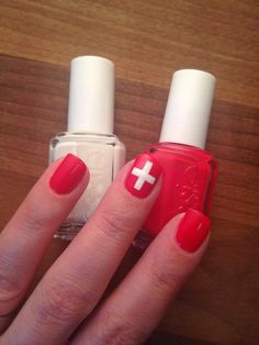 MakeItUp - The Agency / Professional Makeup Agency Swiss National Day, Swiss Days, Flag Nails, Nail Tutorials, Nail Polish, Party Ideas, Nail Art, Holidays, How To Make