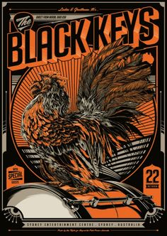 The Black Keys gig poster by Ken Taylor Gig Poster, Concert Posters, Poster Prints, Movie Posters, Artwork Prints, Graphic Prints, Graphic Art, The Black Keys, Tour Posters