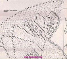 Kira scheme crochet: Scheme crochet no. Crochet Doily Diagram, Crochet Doily Patterns, Thread Crochet, Love Crochet, Filet Crochet, Crochet Scarves, Crochet Motif, Crochet Flowers, Crochet Stitches