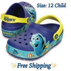 ⭐NEW⭐Crocs-Lights Disney Pixar Finding Dory Blue/Yellow Clog Size: 12 Child  | eBay